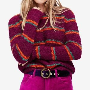 Free People color block knit sweater